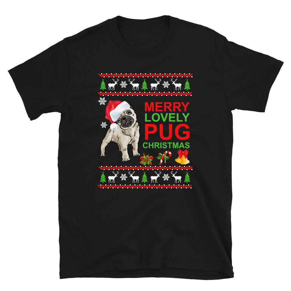 Christmas with Pug - Ugly T-shirt - Short-Sleeve Unisex T-Shirt