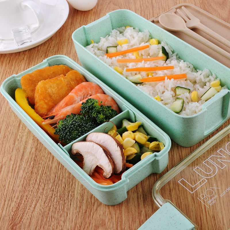 3 Layer Wheat Straw Bento Boxes