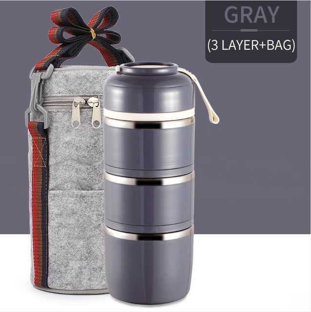 Japanese Thermal Lunch Stainless Steel Box