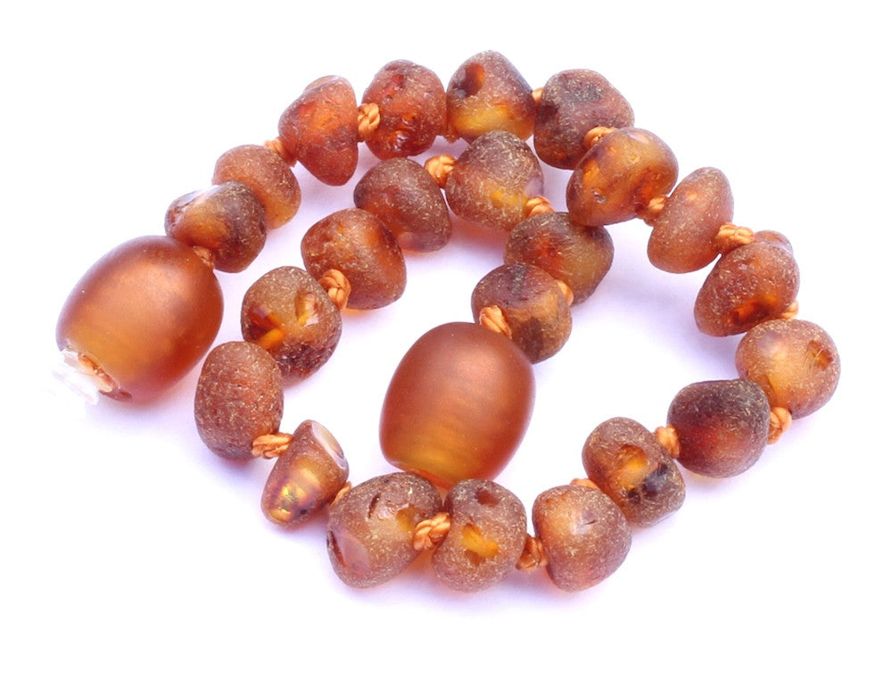 Row Unpolished Amber teething Bracelet