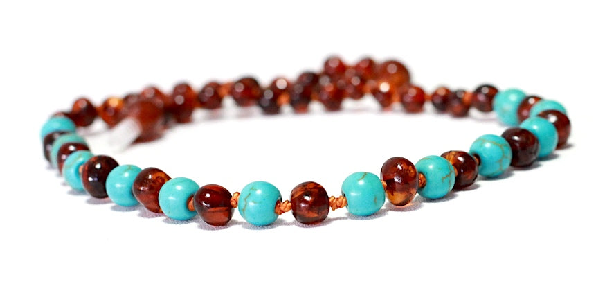 New Arrival | Baby Boy Baltic Cognac with turquoise Blue quartz.