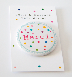 Badge aimant confettis