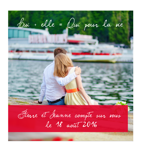 Save the date magnet Lui+elle
