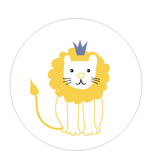 Stickers rond Roi lion