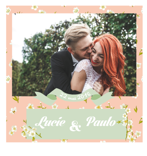 Save the date magnet Lucie et Paulo