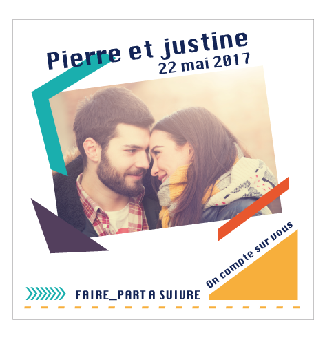 Save the date magnet justine et Pierre