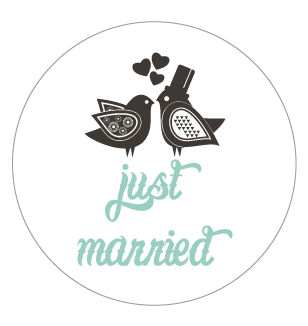 Stickers rond just a married