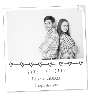 Sticker save the date Paco+Thérèse