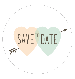 Stickers rond save the date