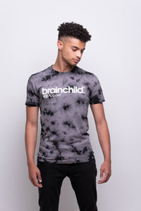 Men's Grey/Black Batik T-shirt