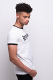 Men's White Ringer T-shirt