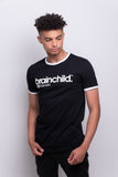 Men's Black Ringer T-shirt