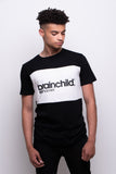 Men's Black/White Contrast Panel T-shirt