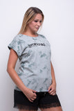 Ladies Light Mint/Dark Grey Batic Extended Shoulder T-shirt