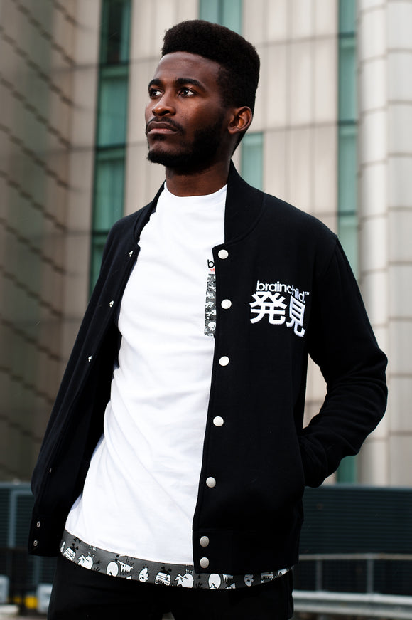 Men's Black Varsity Jacket