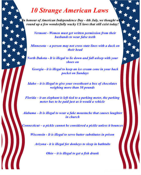 10 Weird and Wonderful American Laws