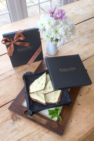 Belgian mint white and milk chocolate peppermint bark UK