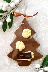 Belgian chocolate Paw prints christmas tree gift for dog / cat lovers