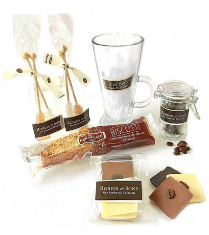 LUXURY COFFEE AND CHOCOLATE GIFT SET WITH MUG - FREE UK DELIVERY