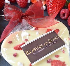 Valentine's Day White Chocolate heart with strawberries