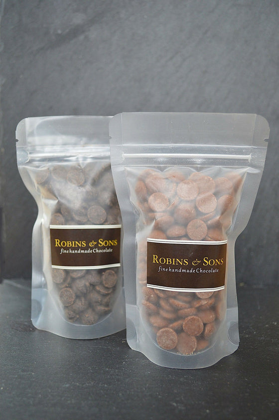 100g resealable bag of Belgian milk or dark chocolate chips