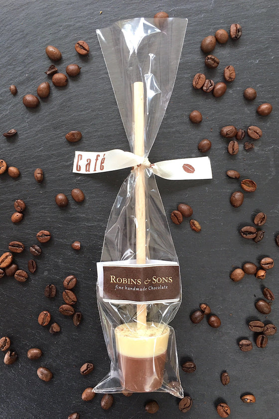 luxury flavoured Belgian hot chocolate stirrers spoons - coffee