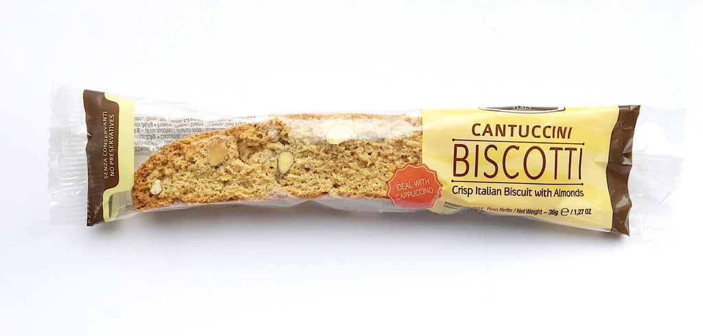 Individually wrapped Italian cantuccini biscuit