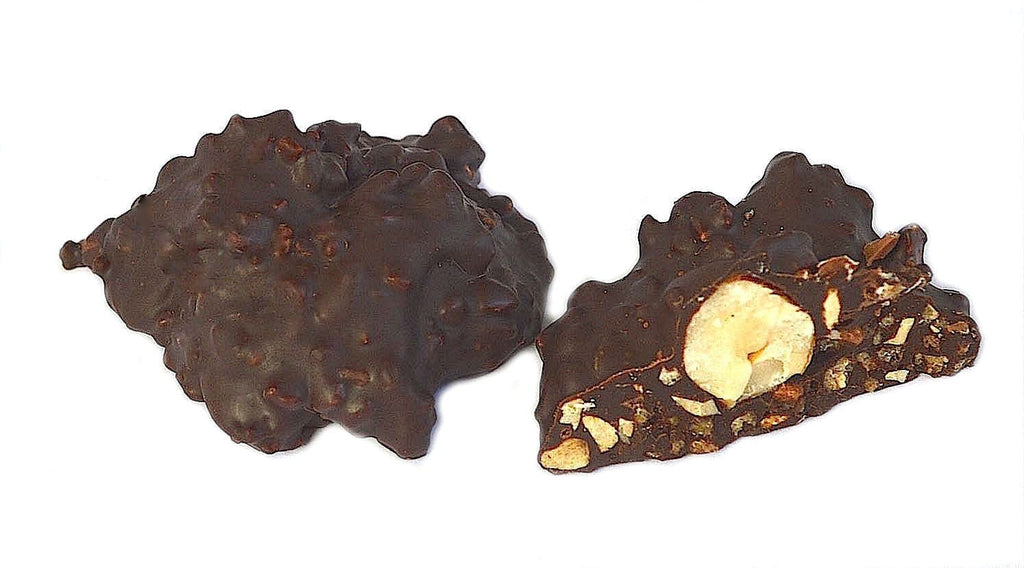 Luxury online chocolate shop dark chocolate coated hazelnuts nots