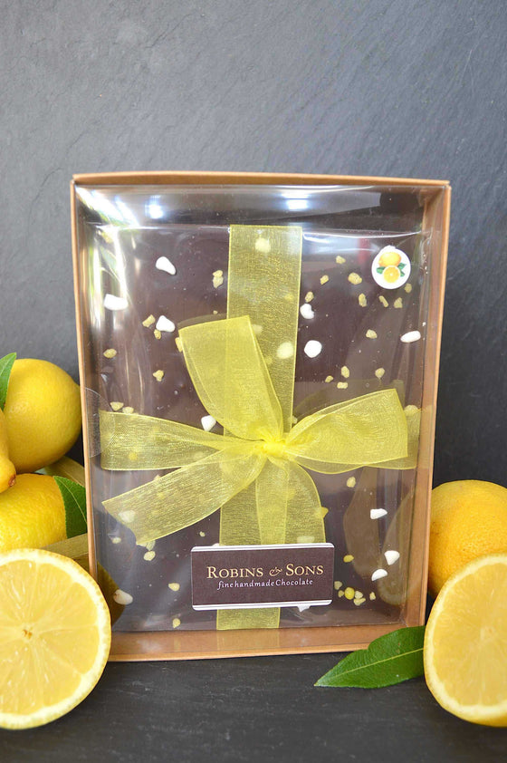 Luxury 70% dark lemon chocolate buy online gift men corporate