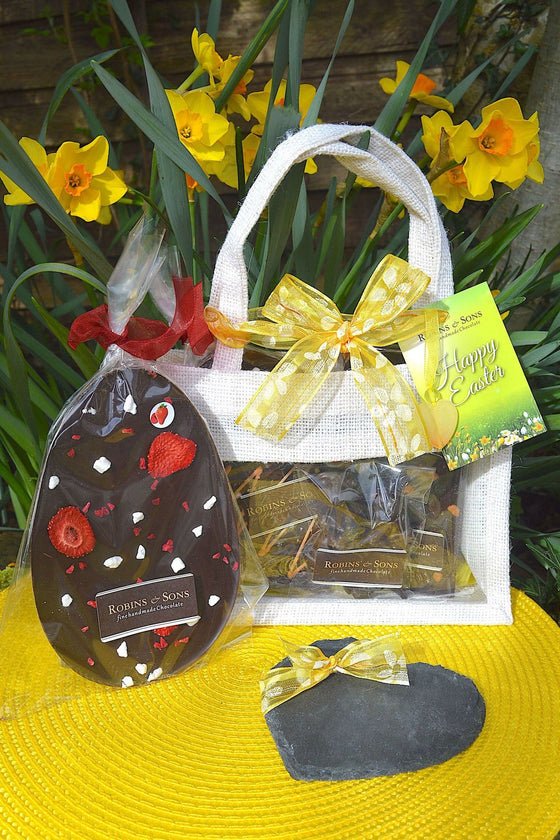 luxury brand dark chocolate easter egg gift bag to buy online