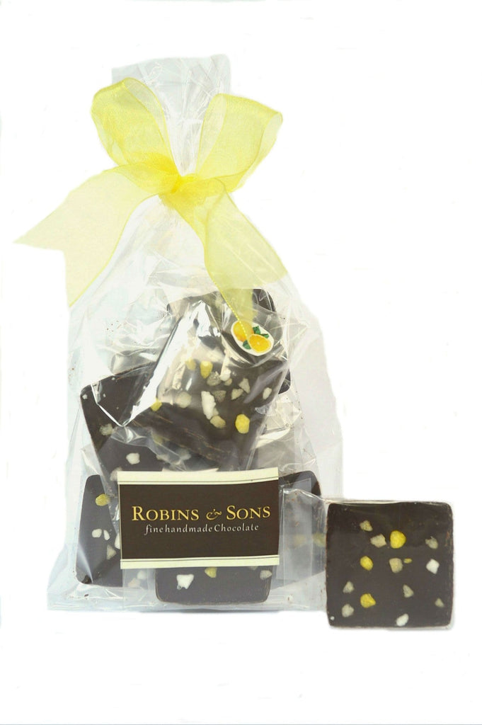 Buy luxury Belgian 70% dark chocolate with lemon oil and meringue online UK