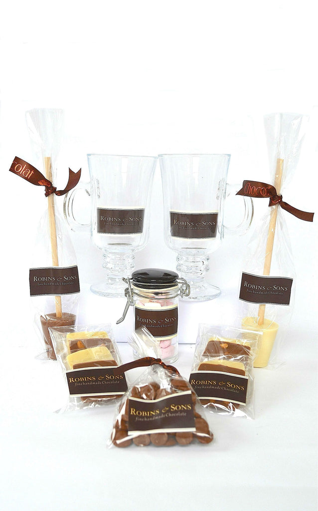 luxury belgian hot chocolate gift box for couples wedding anniversary engagement presents