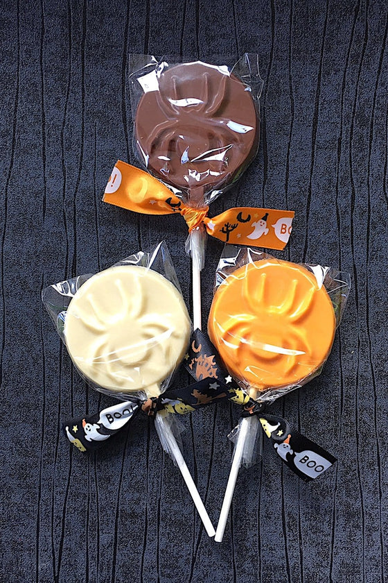Halloween Spooky Spider Chocolate lollipops - 3 pack