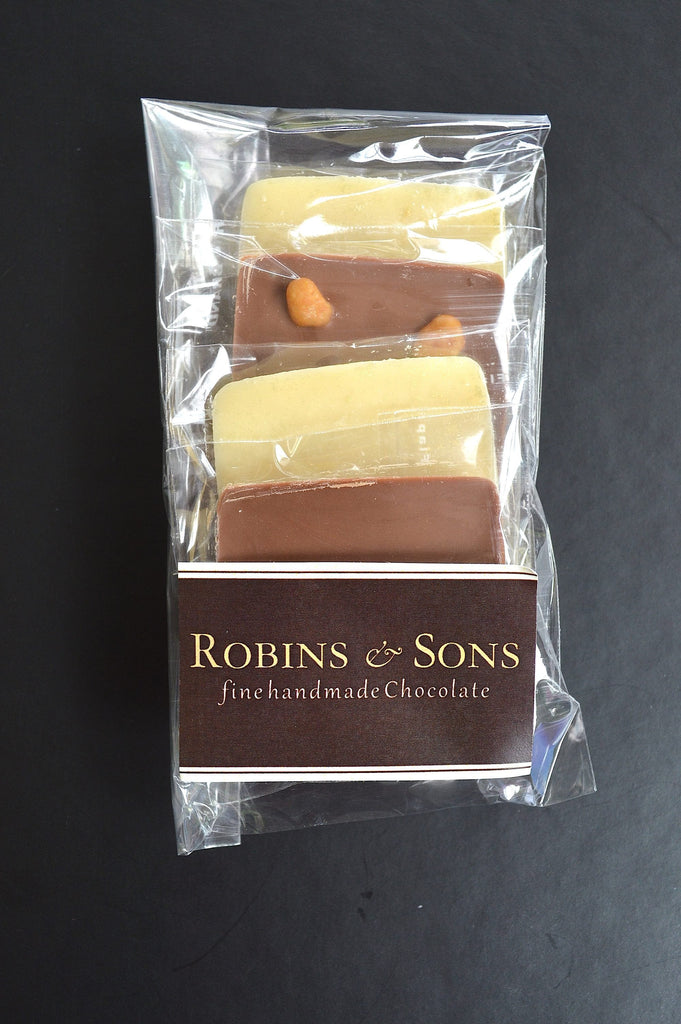 luxury belgian milk and white chocolate squares - hot chocolate gift box