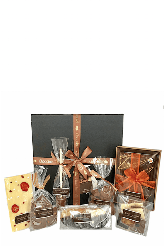 luxury large chocolate gift box milk white dark corporate gifts
