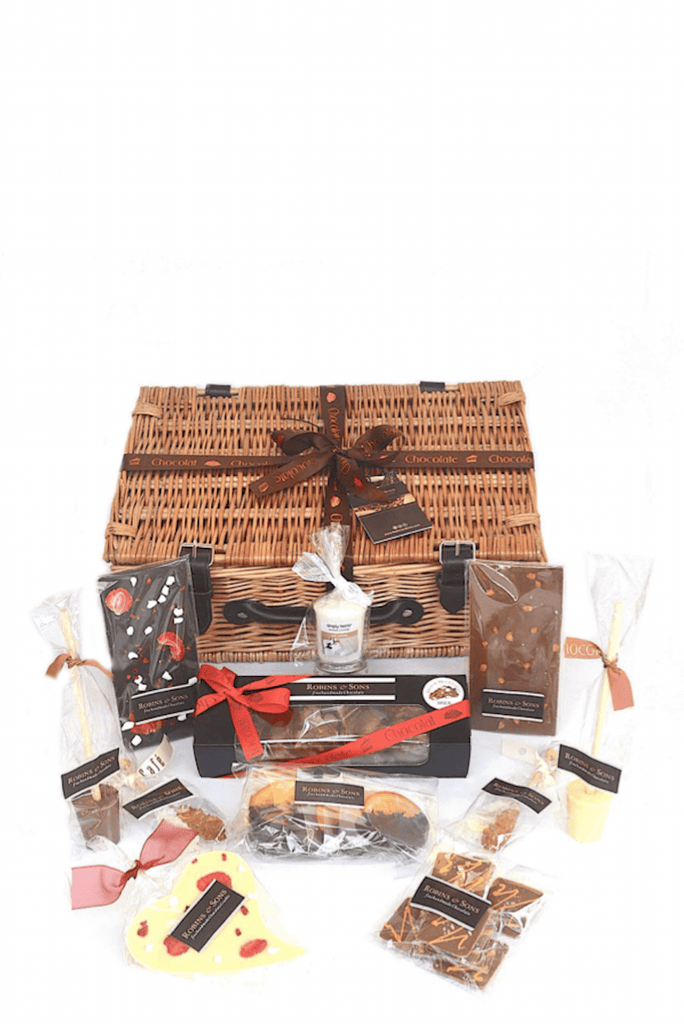Luxury Chocolate Gift Hamper with milk white and dark chocolate