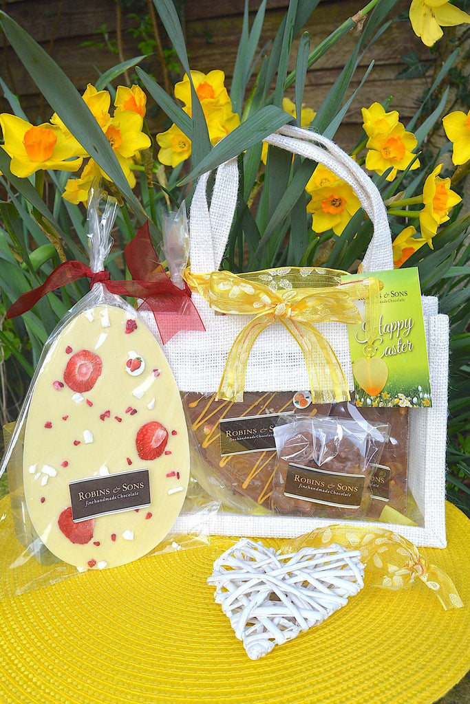 Easter Gift Bag - Milk & White