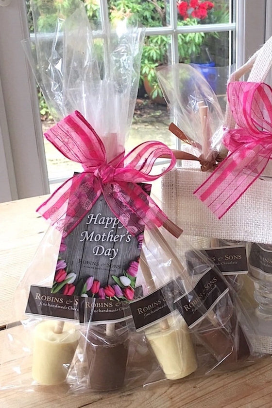 Luxury Mother's Day Hot Chocolate Stirrers Gift Set Kit UK