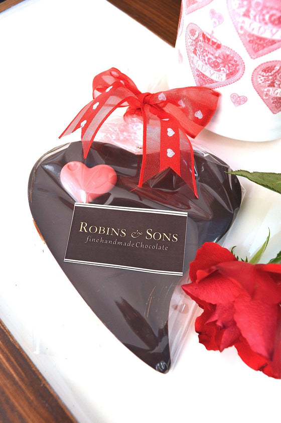 buy luxury Valentine gift Love Heart 70% Dark Chocolate - Robins & Sons Chocolatiers - 1