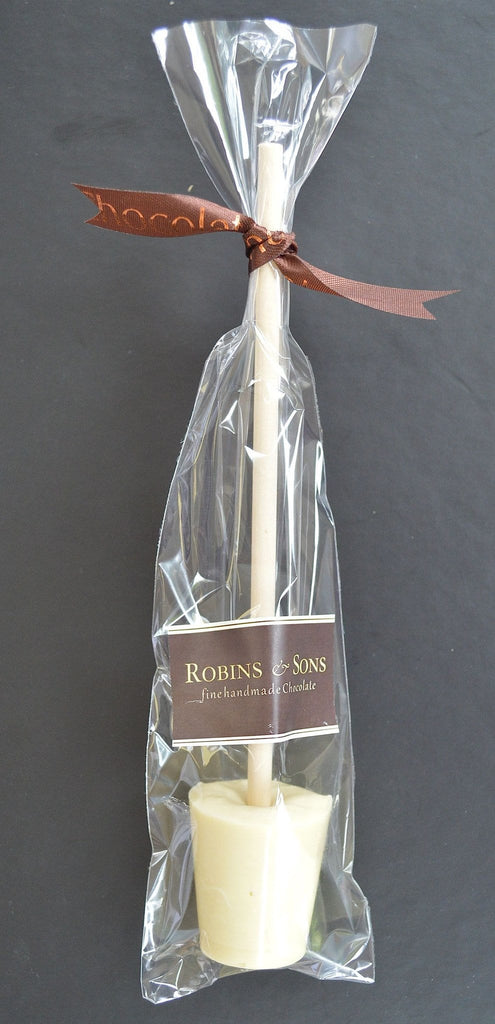Luxury Hot Chocolate Gift Box - White Hot chocolate stirrer spoon
