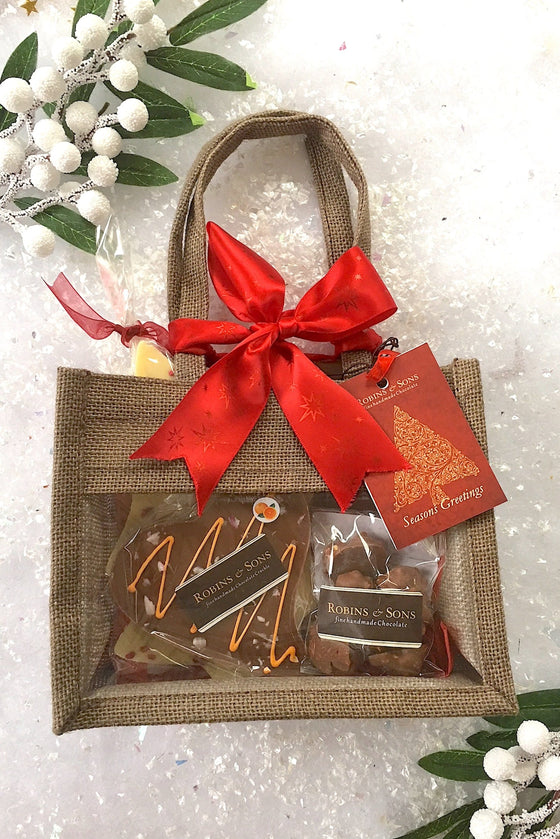 Luxury brand Milk and White Christmas Chocolate Gift Bags buy UK