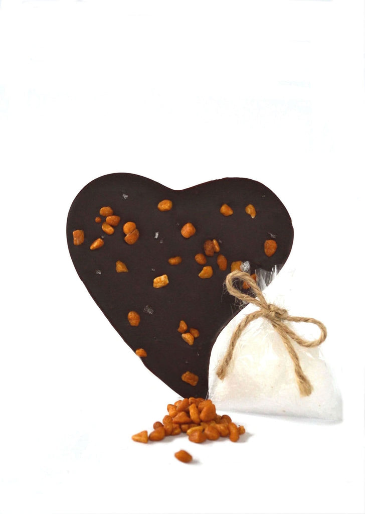 luxury Salted Caramel valentine gift heart dark chocolate buy online