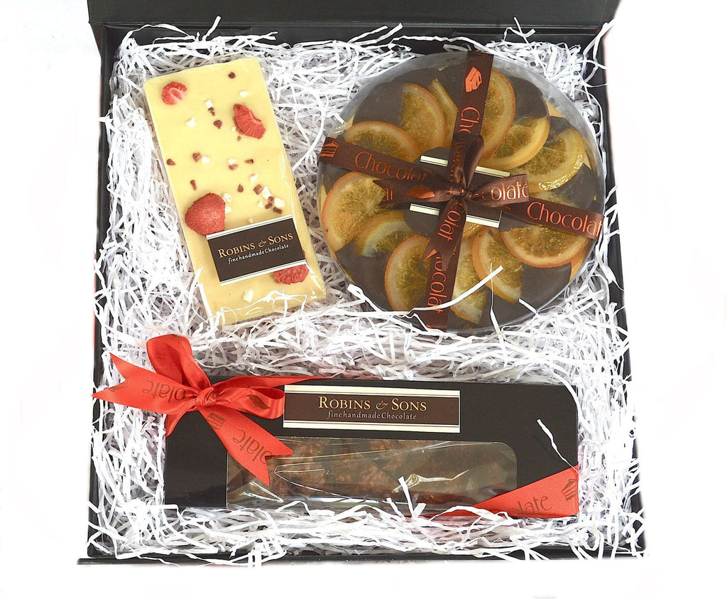 luxury brand chocolate covered oranges and nuts corporate Valentine gift