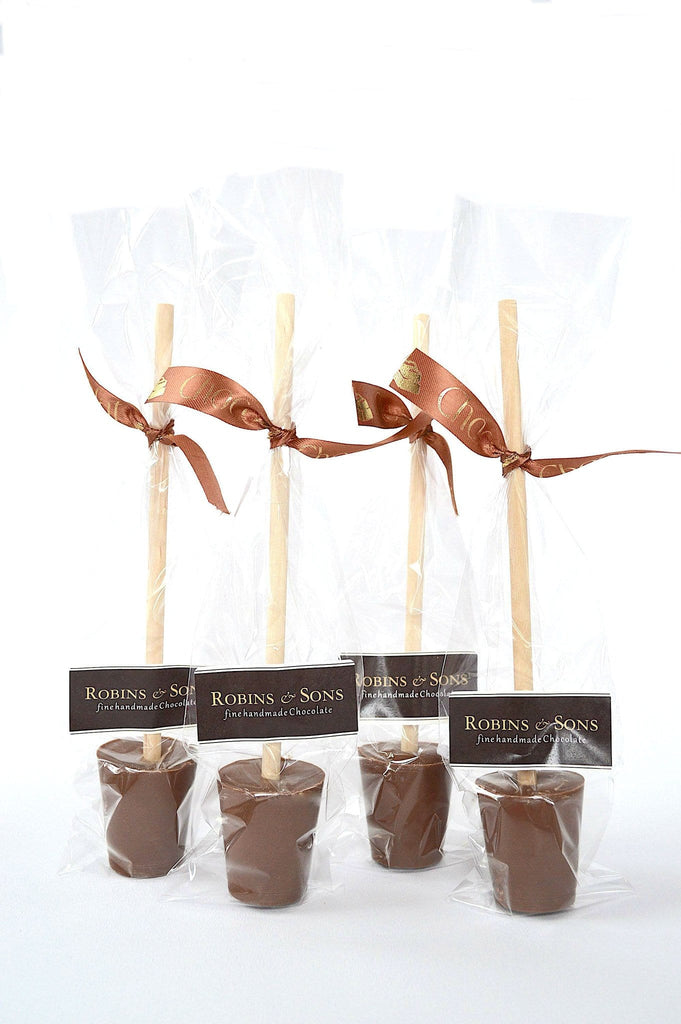 Pack of luxury Belgian milk chocolate Hot Chocolate stirrer spoons
