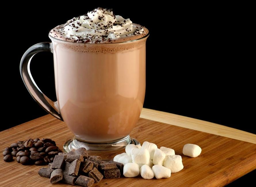 Luxury Belgian hot chocolate drink