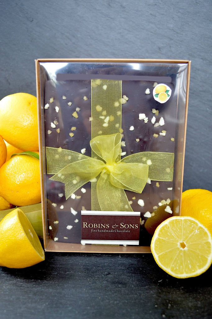 Luxury 70% dark lemon chocolate buy online easter gift men corporate