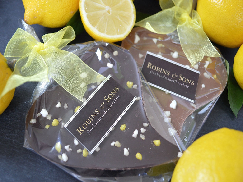 Luxury lemon milk dark chocolate buy online valentine gift wedding favour