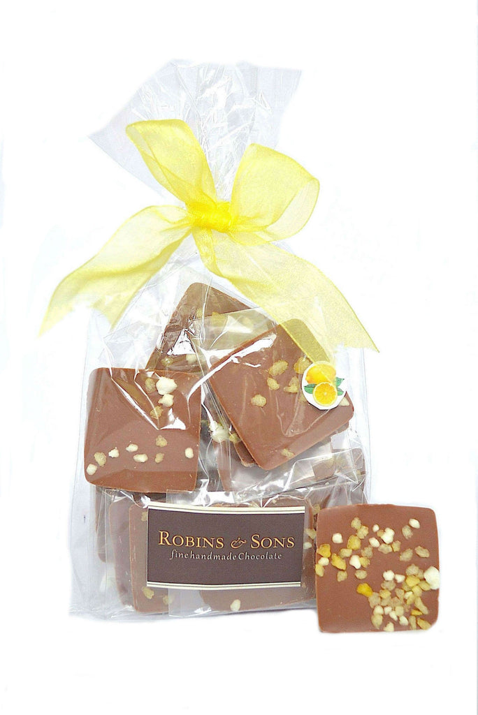 Buy Luxury belgian milk chocolate online with natural lemon oil, meringue and lemon crystals
