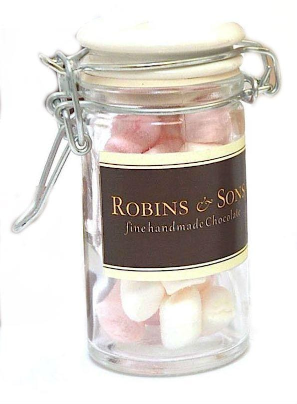 Mother's Day luxury Hot Chocolate Gift Sets - glass mini jar with marshmallows