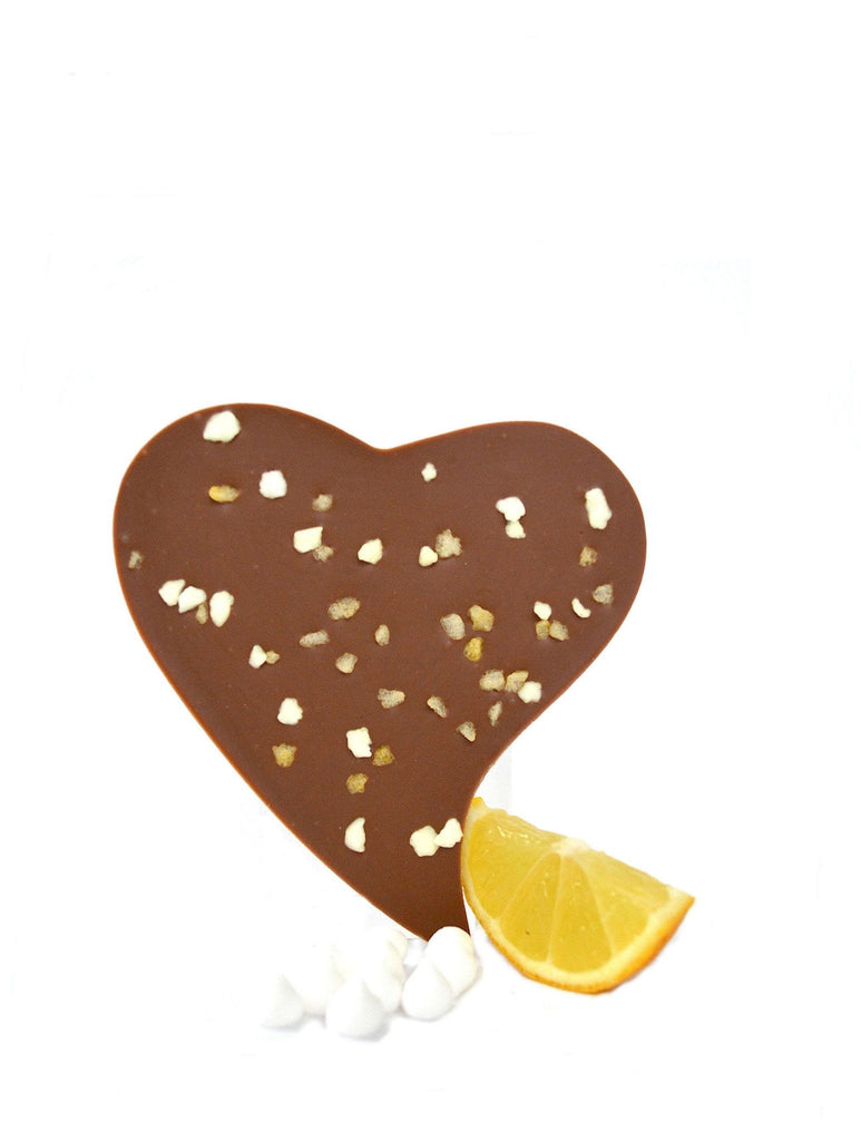 Luxury lemon milk chocolate buy online valentine gift heart corporate